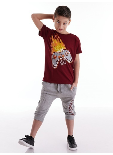 Mushi Play Game Erkek Çocuk Kapri Takım Renkli